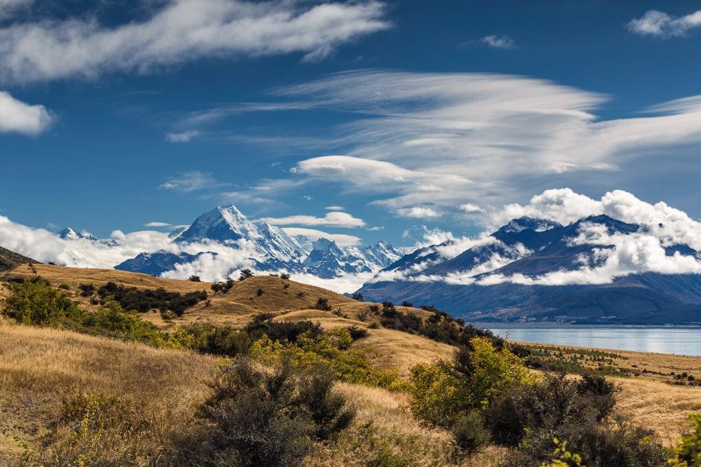 Nowa Zelandia - Widok na Mount Cook
