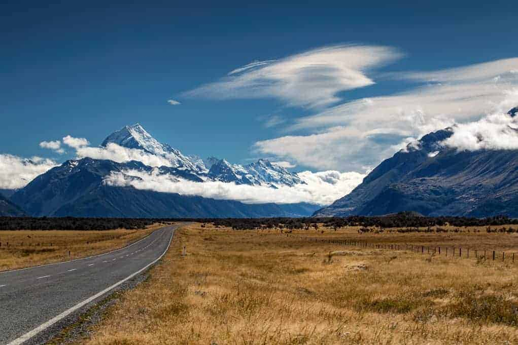 Nowa Zelandia - Droga do Mount Cook