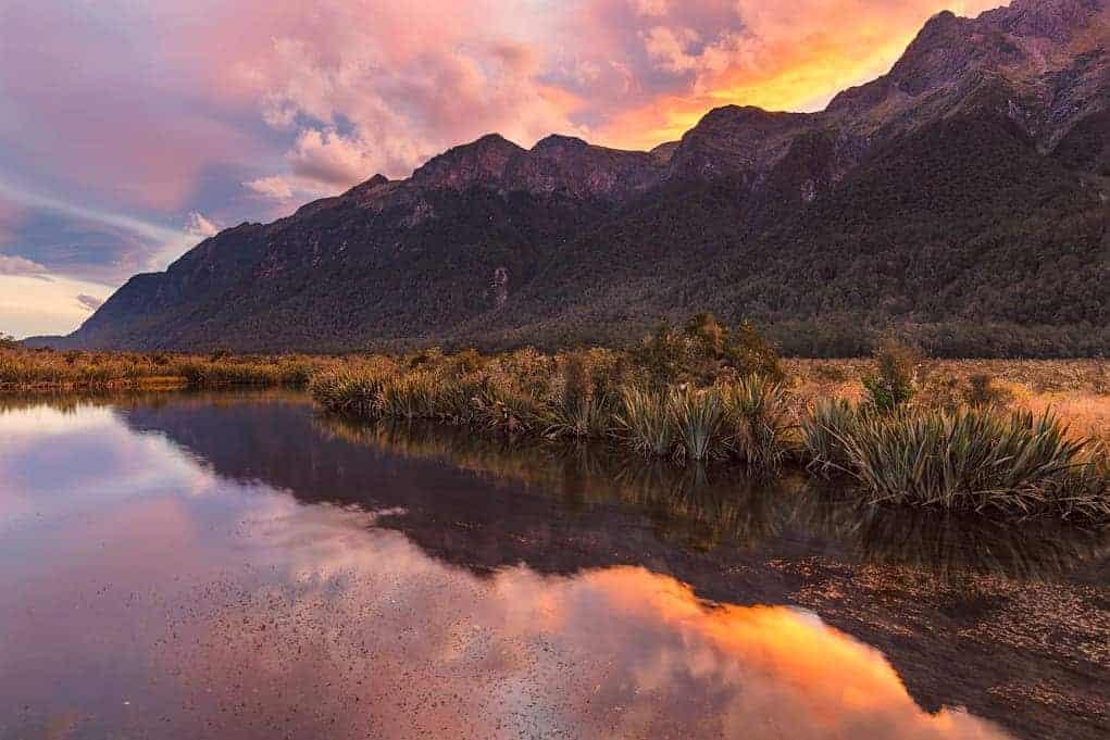 Podróż do Nowej Zelandii - Mirror Lake