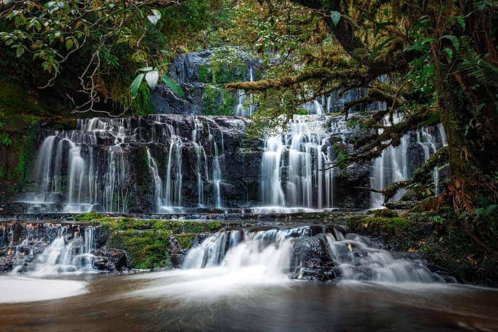 Nowa Zelandia - Wodospad Purakaunui